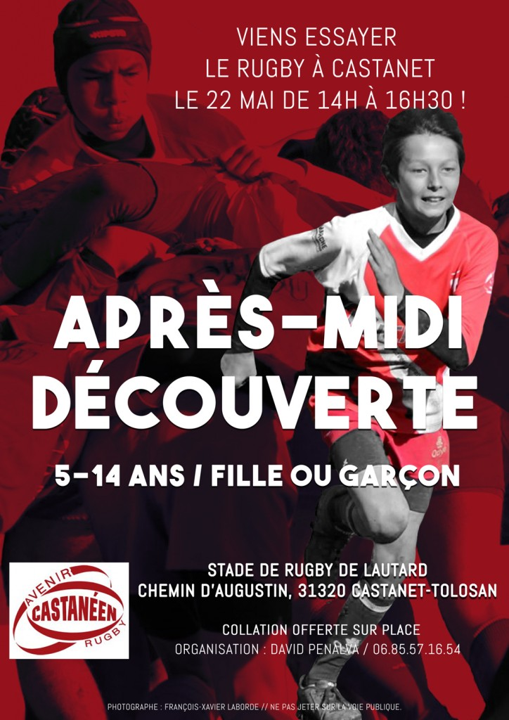 affiche decouverte du rugby
